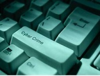 Cyber Crime Button on a Keyboard