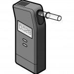 Illustration of a breathalyzer device on a white background